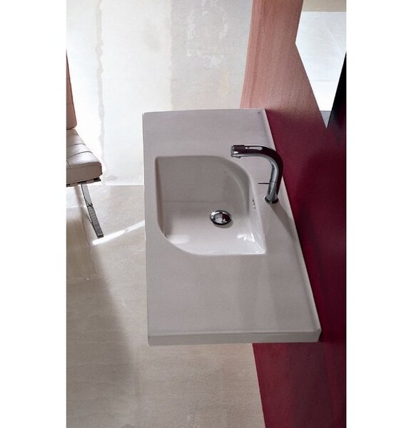 Play Ceramic 41 Wall Mount Bathroom Sink with Overflow by Althea by Nameeks