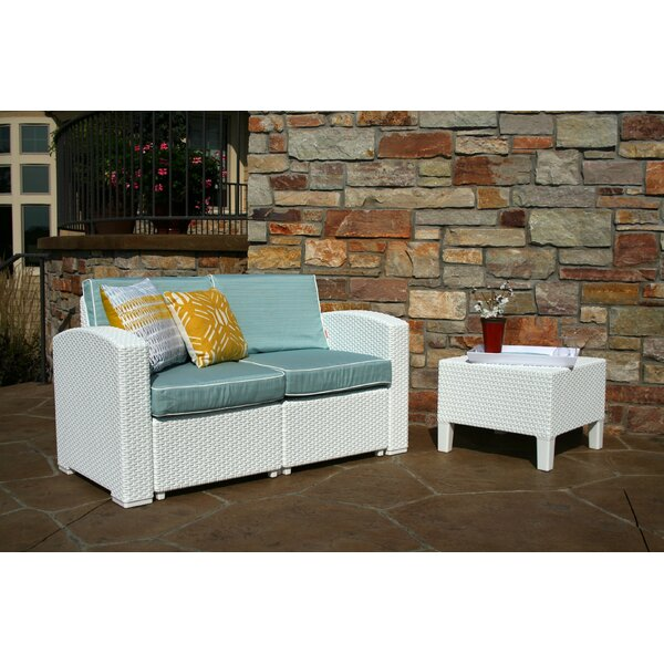 Loggins 3 Piece Rattan Sofa Seating Group with Cushions by Brayden Studio