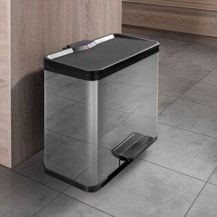 27 L Tret-Abfalltrenner Öko trio Plus | Küche und Esszimmer > Küchen-Zubehör > Mülleimer | Grün - Braun - Gold | Hailo