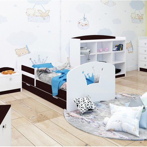 Bettgestell Gier mit Unterbettschublade Harriet Bee Farbe (Bettgestell): Schwarzbraun| Maße: Kleinkind (70 x 140 cm) | Schlafzimmer > Matratzen > Unterbetten | Harriet Bee