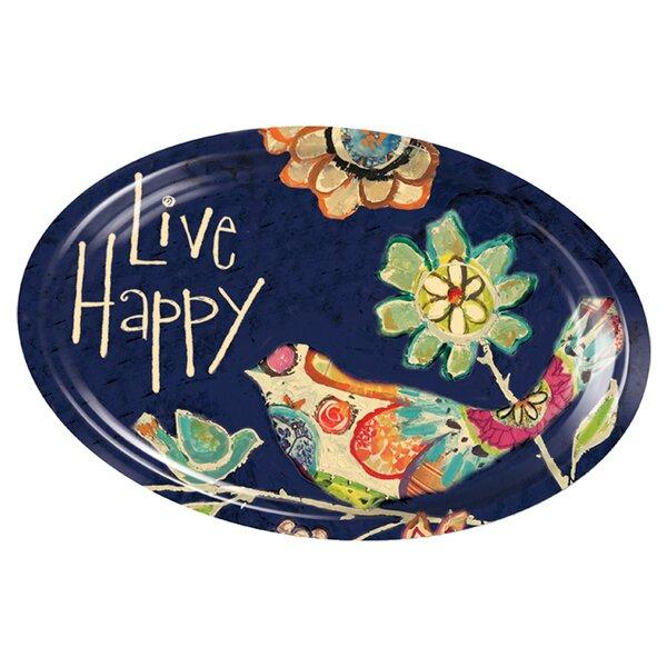 Live Happy Platter by Evergreen Enterprises, Inc