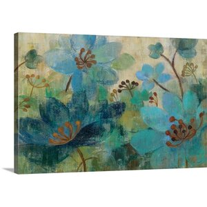 'Peacock Garden' by Silvia Vassileva Painting Print on Canvas by Great Big Canvas