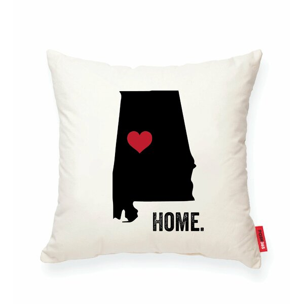 Pettry Alabama Cotton Throw Pillow by Wrought Studio