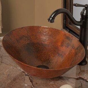 Best Reviews Bilboa Metal Oval Vessel Bathroom Sink By Novatto