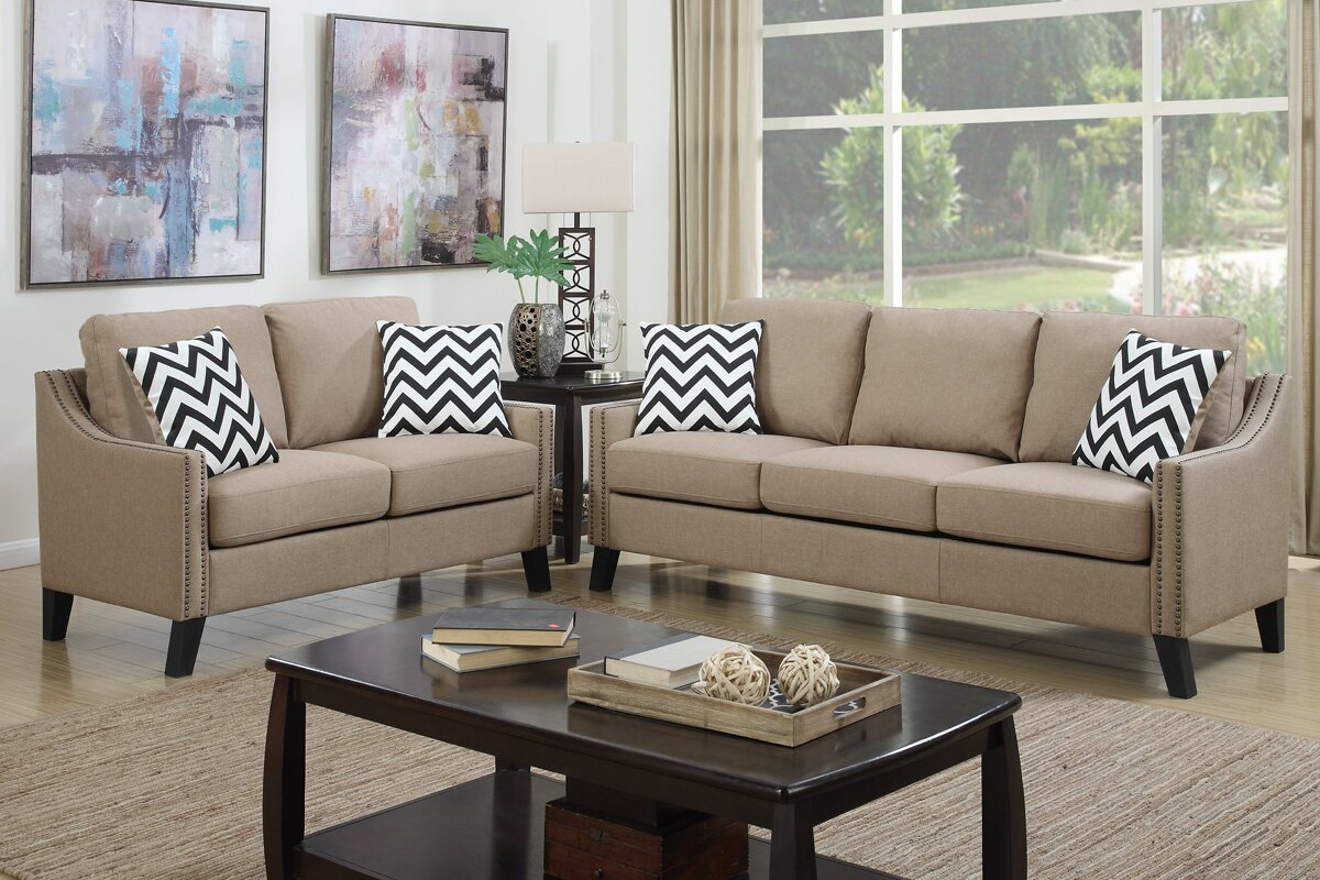 Bobkona Debora 2 Piece Living Room Set Part 8