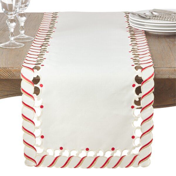 Candy Cane Table Runner by The Holiday Aisle