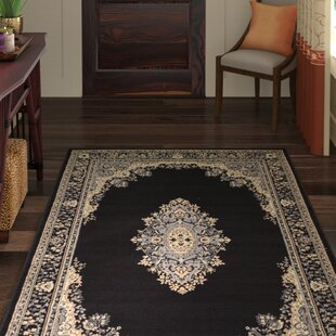 Where buy  Britain Black Area Rug ByWorld Menagerie