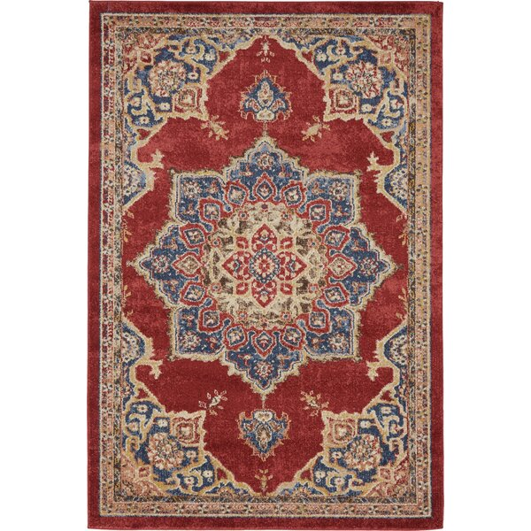 Dulin Terracotta Area Rug by Mercury Row