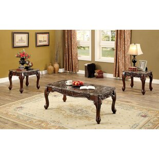 Order Redford Traditional 3 Piece Coffee Table Set ByAstoria Grand