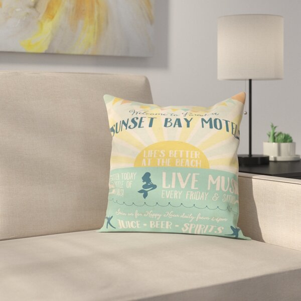 Beach Bar 1 Outdoor Throw Pillow by East Urban Home