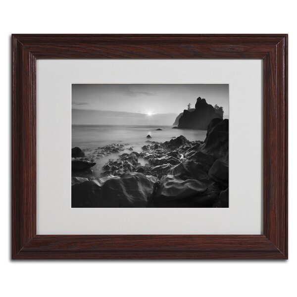 Sunset At Ruby Beach by Moises Levy Framed Photographic Print by Trademark Fine Art