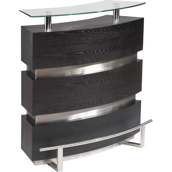 Xenia Bar with Wine Storage by Chintaly Imports