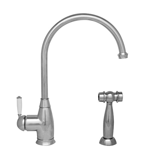 Queenhaus Single Handle Kitchen Faucet with Side Spray by Whitehaus Collection