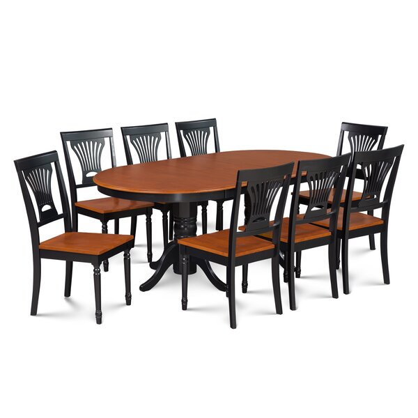 Inwood 9 Piece Rubber Wood Dining Set by Darby Home Co