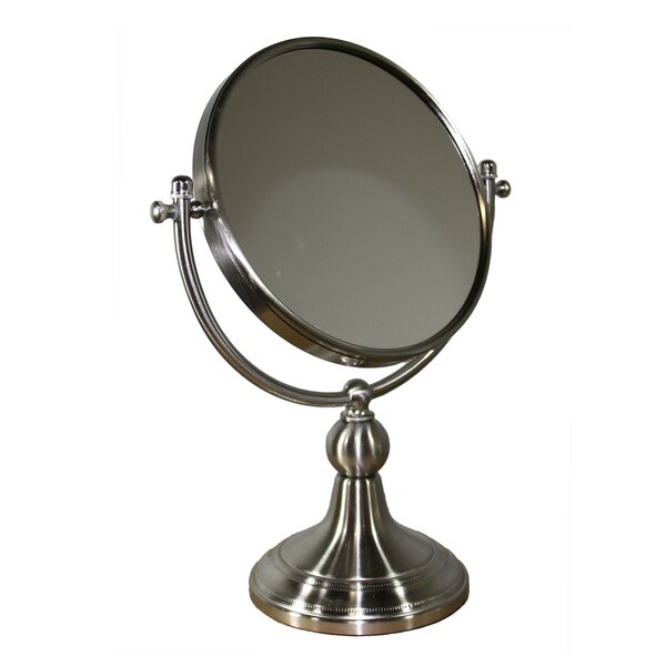 Alphonso Free Standing Round X Magnify Mirror by Darby Home Co