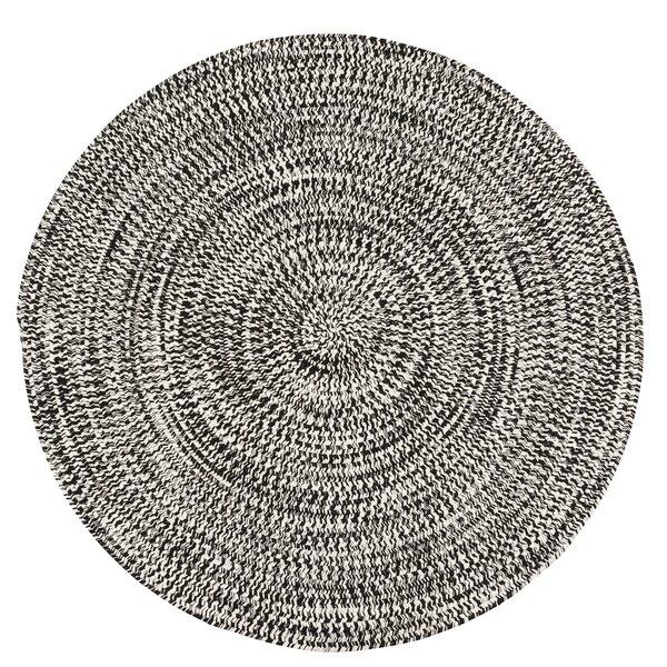 Longe Tweed Hand-Braided Electric Black Indoor/Outdoor Area Rug by Winston Porter