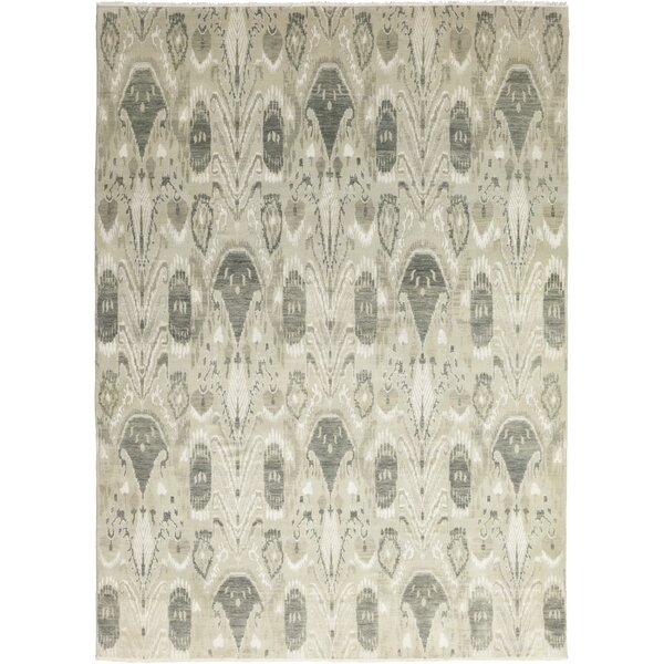 One-of-a-Kind Dicha Hand-Knotted Wool Gray Indoor Area Rug by Isabelline
