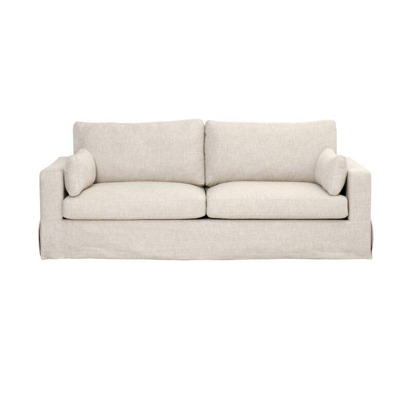 Rowley Linen Upholstery Sofa #whitesofa #linensofa