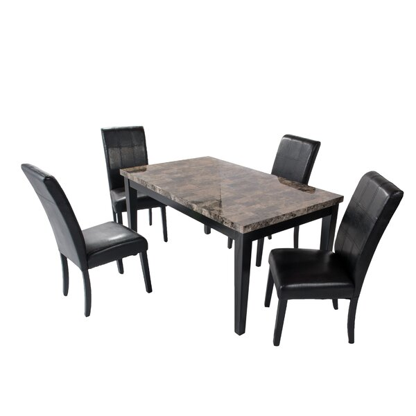 Aldama 5 Piece Dining Set by Fleur De Lis Living