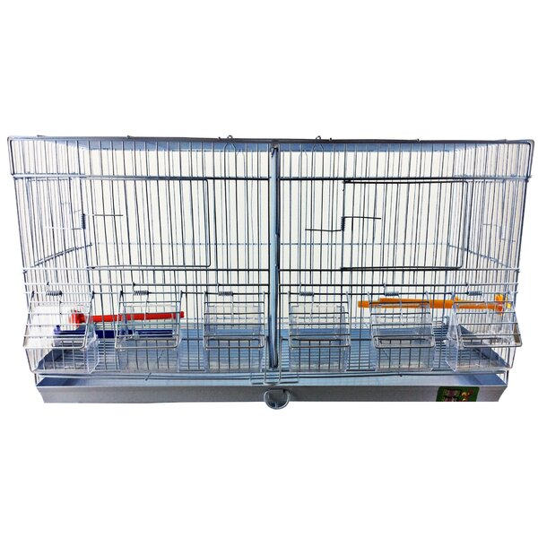 Stackable Double Wide Breeder with Divider by A&E Cage Co.