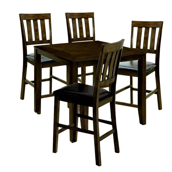 Kasey Wooden 5 Piece Counter Height Dining Table Set by Millwood Pines