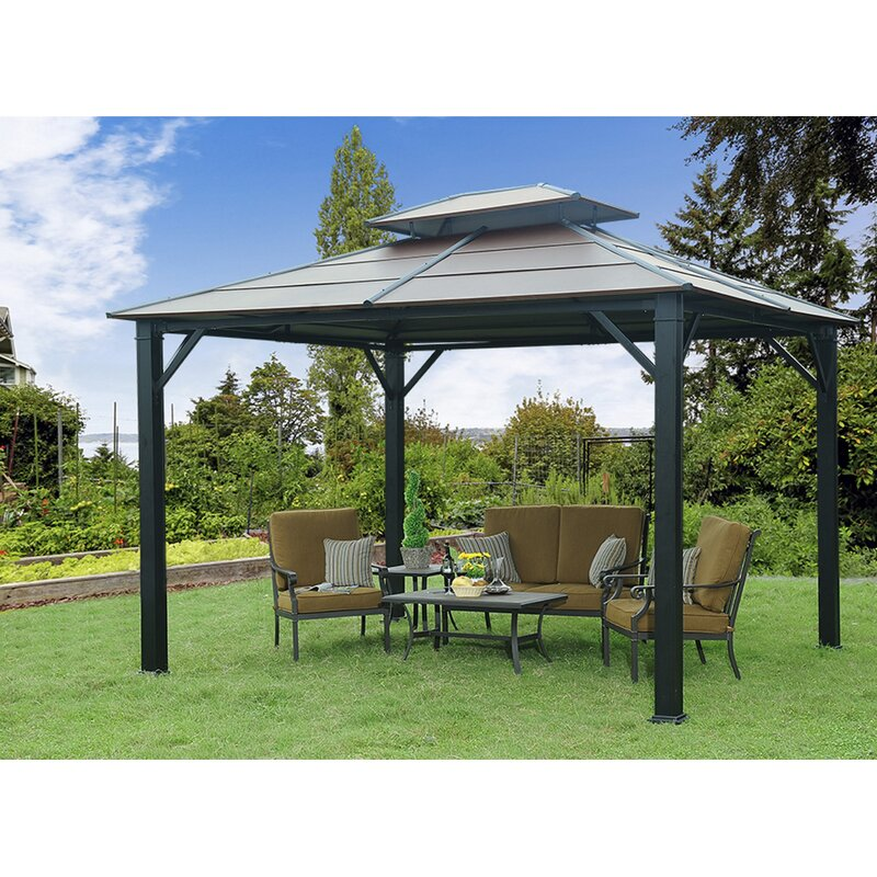 Merveilleux Rolla 10 Ft. W X 12 Ft. D Metal Patio Gazebo