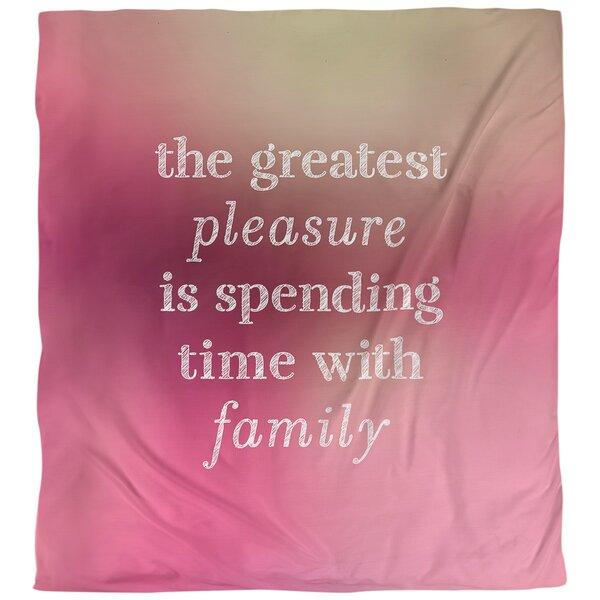 Quotes Love Family Single Reversible Duvet Cover