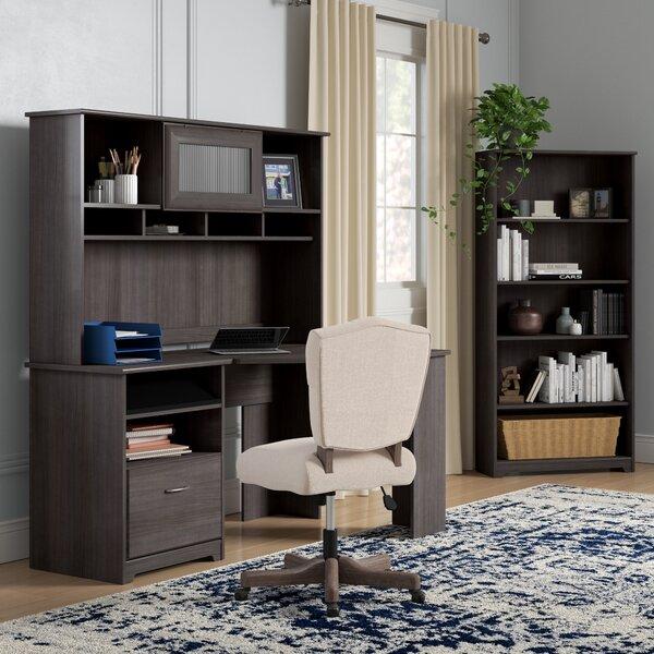Hillsdale Corner Desk with Hutch and 5 Shelf Bookcase by Red Barrel Studio