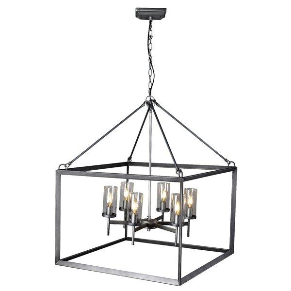 Cade 6 - Light Lantern Square Chandelier by Gracie Oaks Gracie Oaks
