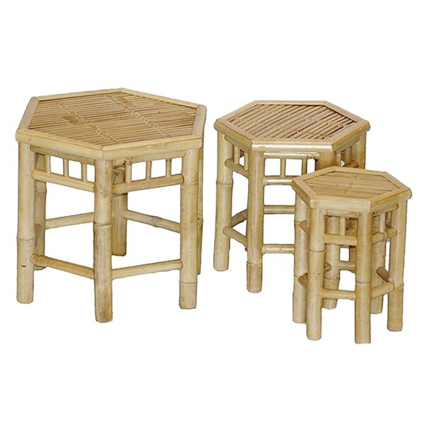Porter 3 Piece Bamboo Stool Set by Bay Isle Home