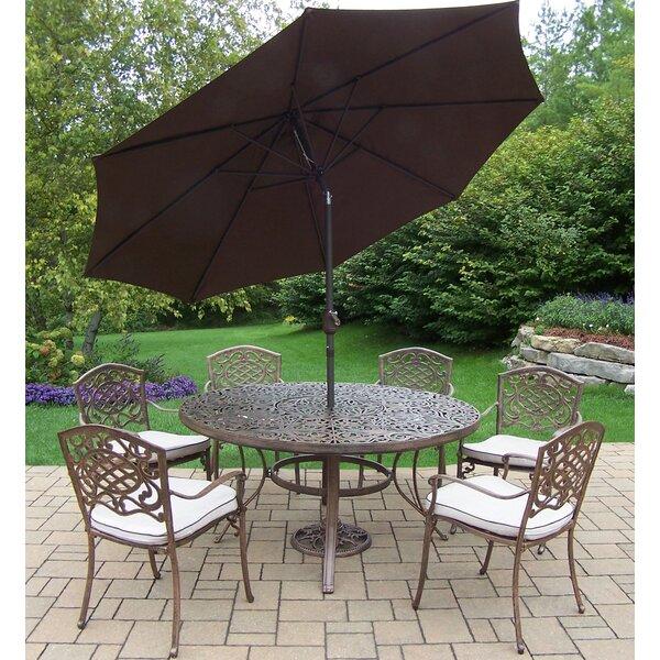 Mcgrady Dining Set with Umbrella by Astoria Grand