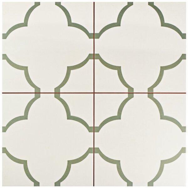 Cumulus 17.63 x 17.63 Ceramic Field Tile in Cream/Olive by EliteTile