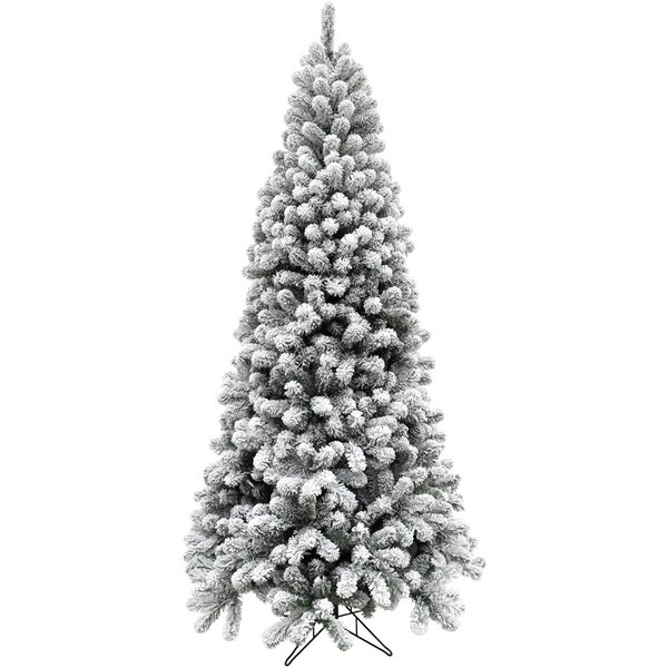 Flocked Alaskan Green/Snow Pine Trees Artificial Christmas Tree by The Holiday Aisle