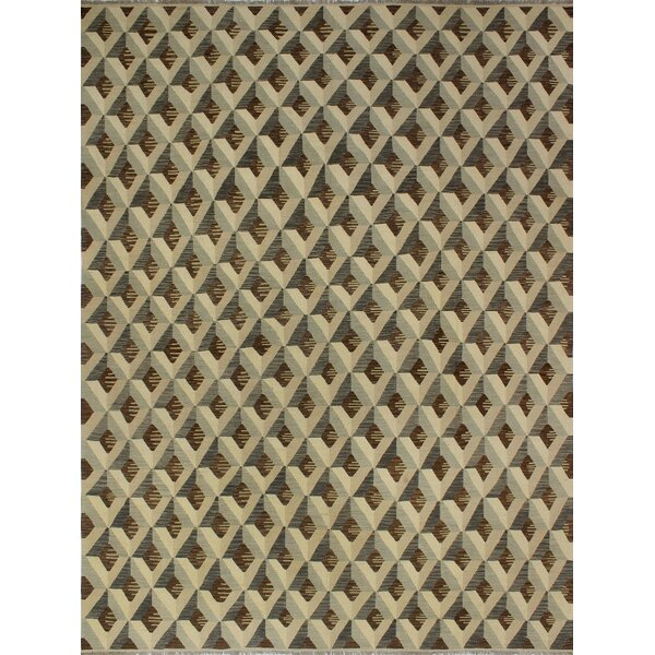 One-of-a-Kind Pender Hand-Woven Wool Beige/Brown Area Rug by Orren Ellis