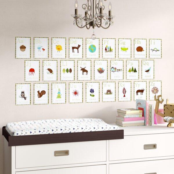 Francesco 26 Piece Nature Themed English Alphabet Wall Card Set by Harriet Bee