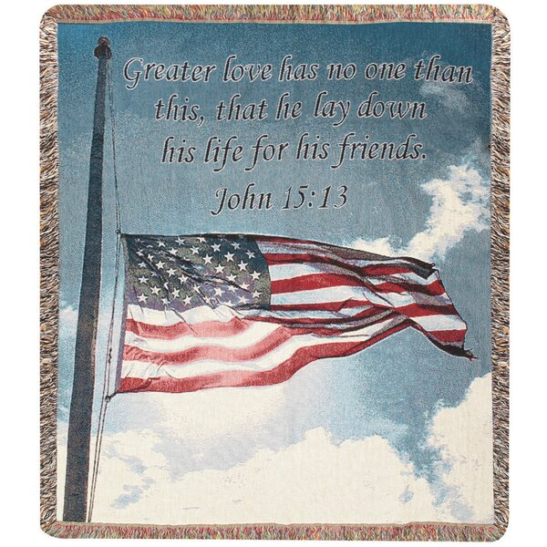 Salute to Our Soldiers Tapestry Cotton Throw by Manual Woodworkers & Weavers