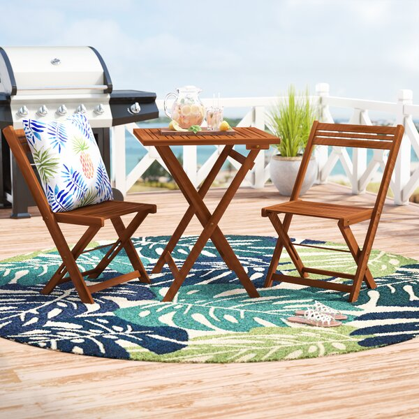 Aranmore 3 Piece Outdoor Square Bistro Set by Beachcrest Home