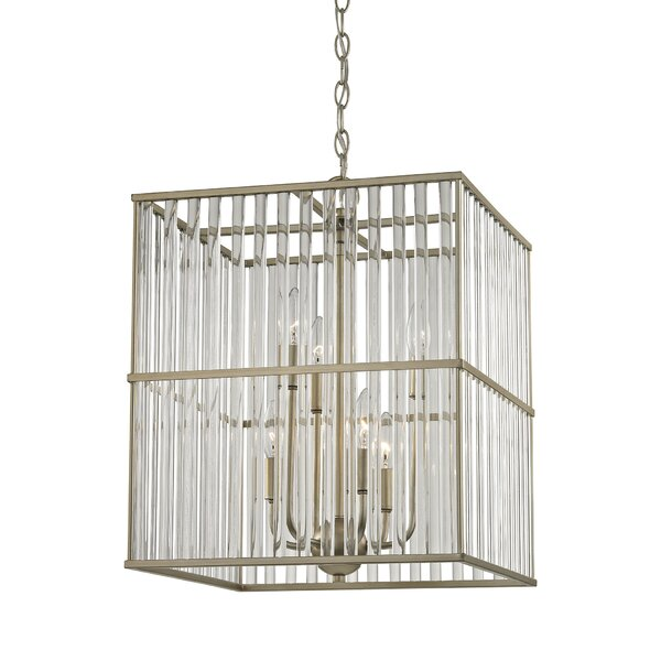 Bently 6 - Light Unique / Statement Rectangle / Square Chandelier By Darby Home Co