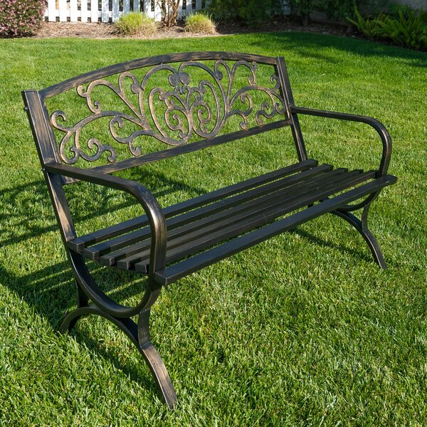 Metal Garden Bench by Belleze