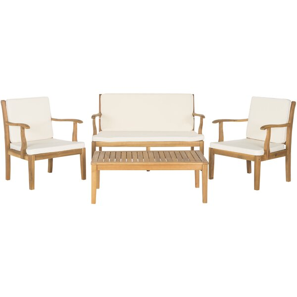 Cogburn 4 Piece Sofa Seating Group With Cushions By George Oliver by George Oliver Comparison