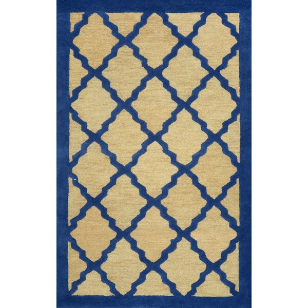 Varanas Hand-Woven Wool Blue/Yellow Area Rug by nuLOOM