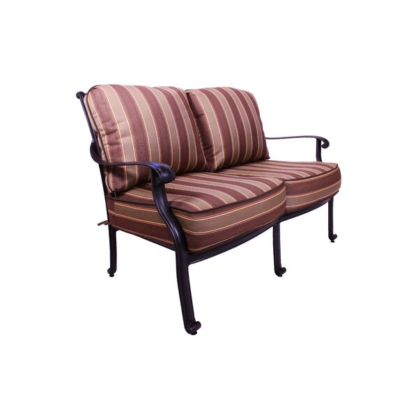 Islais Patio Loveseat with Sunbrella Cushions by Darby Home Co