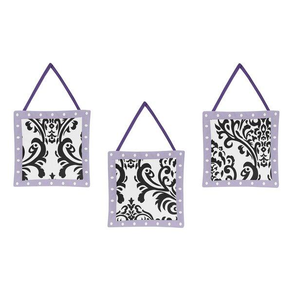 Sloane 3 Piece Hanging Art Set by Sweet Jojo Designs