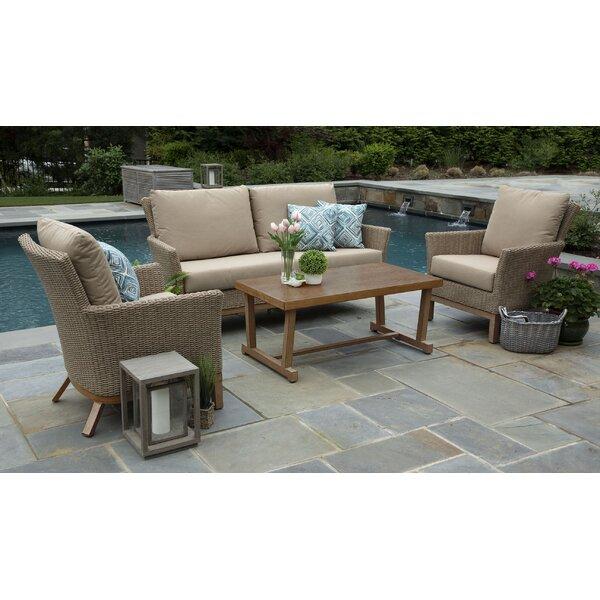 Lesly 4 Piece Sunbrella Sofa Set with Cushions by Gracie Oaks