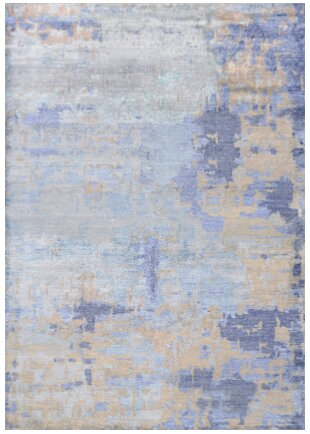 Mumford Faux Hand-Knotted Azure Area Rug by Trent Austin Design