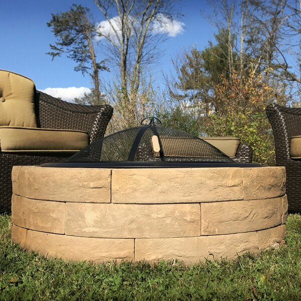 Acadia Concrete Wood Burning Fire pit by Outdoor Distinctions