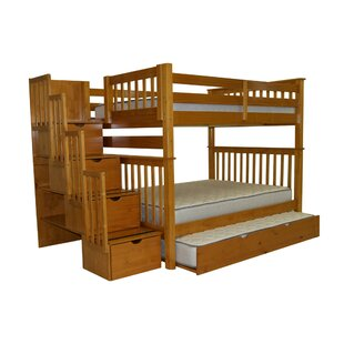 Check Prices Tena Full over Full Bed with Full Trundle By Harriet Bee
