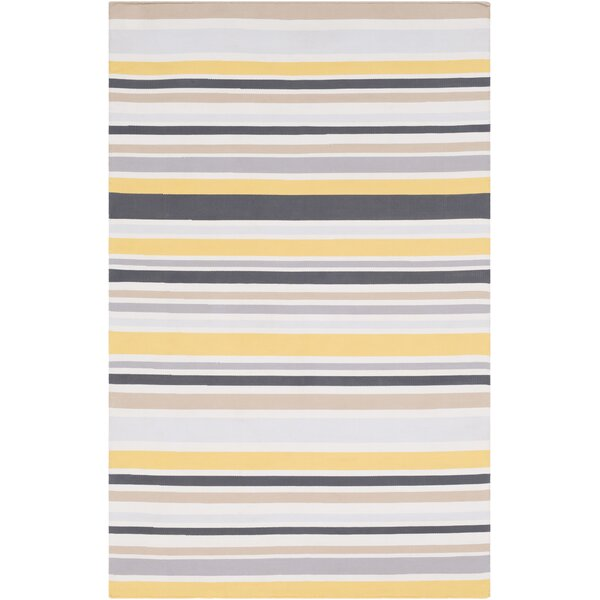 Bybrook Hand-Woven Flatweave Light Gray/Yellow Rug