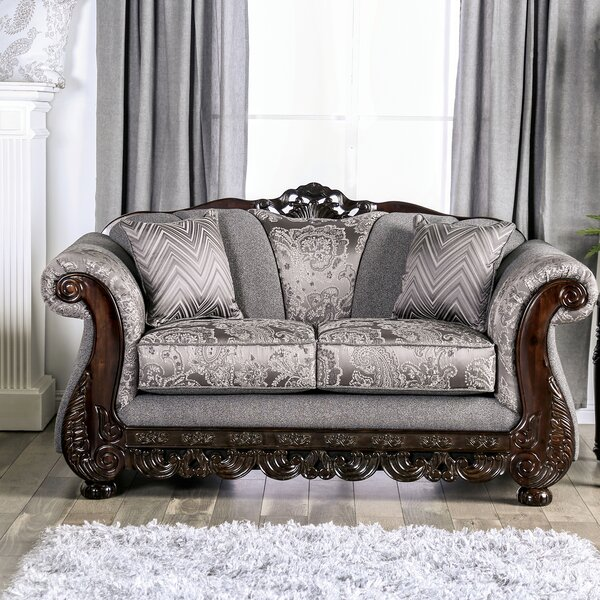 Renda Rolled Arms Loveseat by Astoria Grand