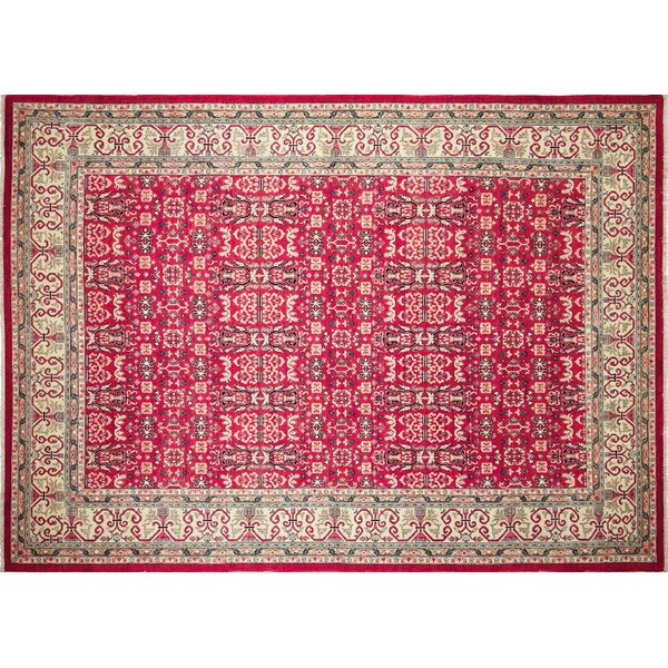 One-of-a-Kind Acree Hand-Knotted Indoor Red Area Rug by Isabelline